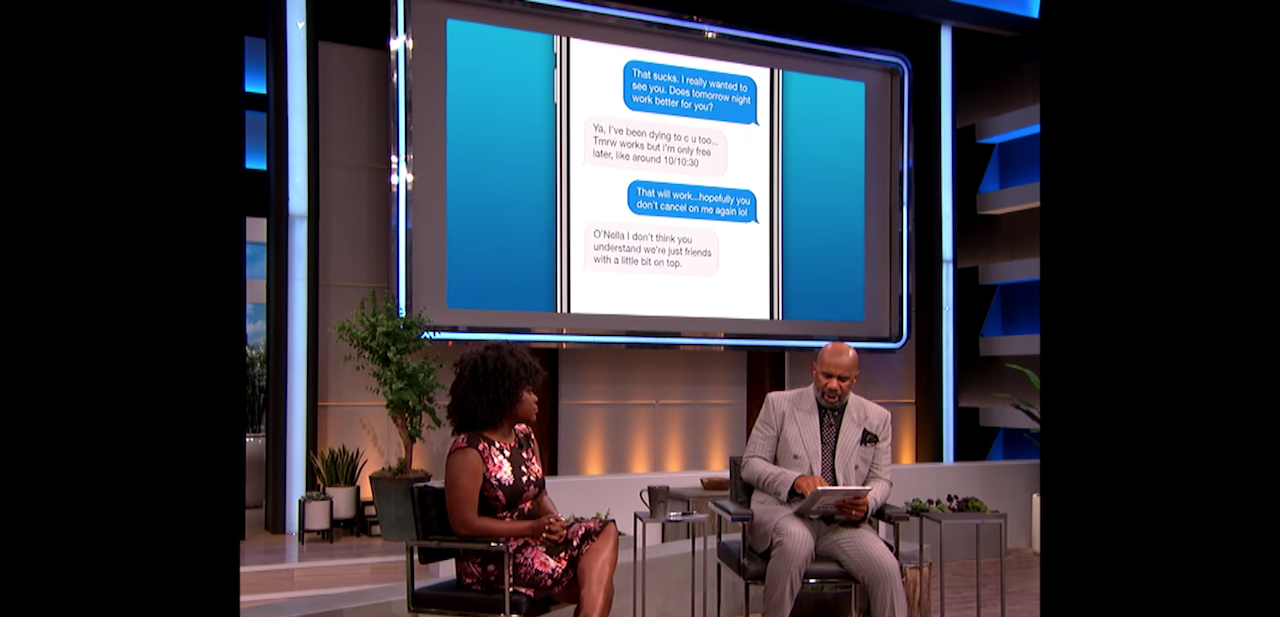 Steve Harvey Breaks Down A Text Conversation For A Woman